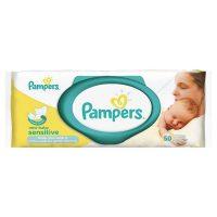 دستمال مرطوب ضد حساسیت كودك   پمپرز - Pampers مدل درب دار 50 برگ
