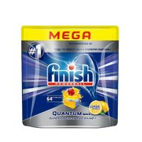 قرص ماشین ظرفشویی فینیش - finish کوانتوم محصول آلمان حاوی 64 عدد با رایحه لیمو