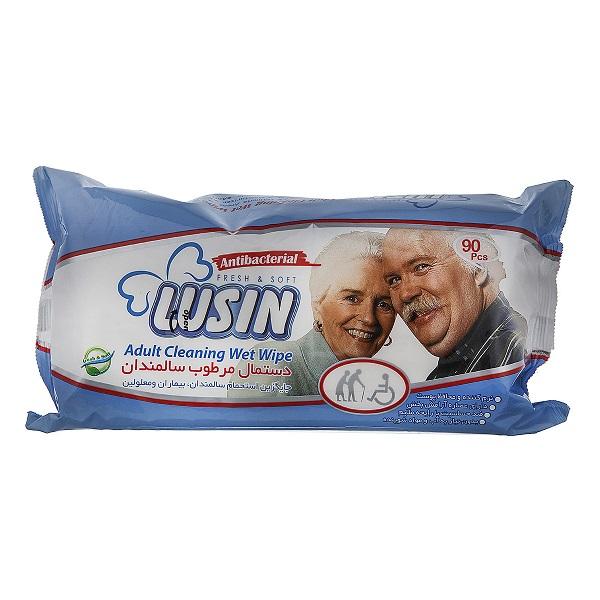 دستمال مرطوب سالمندان 90عددی لوسین – LUSIN