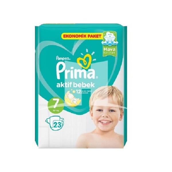 پوشک کودک پریما – Prima سایز 7 حاوی 23عدد