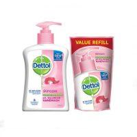 مایع دستشویی دتول مراقب پوست200 میلی همراه با یدک 175 میلی (Dettol)