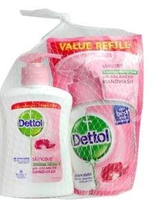 مایع دستشویی دتول _Dettol مراقب پوست (200ml)همراه با یدک 175ml