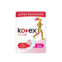 نوار بهداشتی بلند کوتکس kotex مدل ACTIVEتعداد 18 عددی