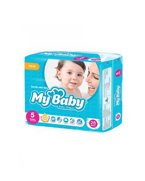 پوشك سايز 5 مای بيبی 28 عددی مناسب 12-20 کیلو (My Baby)