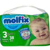 پوشک سایز 3 مولفیکس مناسب 4 تا 9 کیلو (molfix)