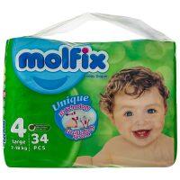 پوشک سایز 4 مولفیکس - molfix مناسب 7 تا 18 کیلو