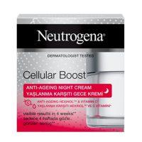 کرم شب صورت ضد پیری و جوان کننده Cellular Boost نیتروژنا 50میلی (Neutrogena)