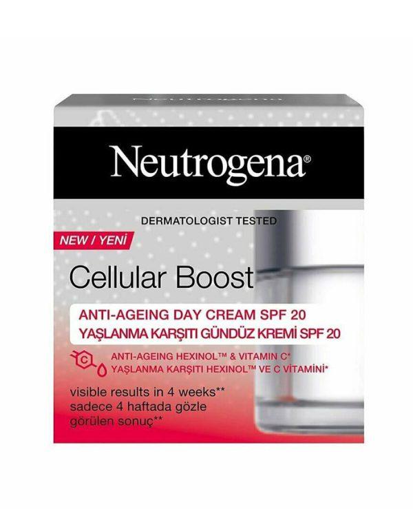 کرم روز صورت ضد پیری Cellular Boost نیتروژنا 50میلی (Neutrogena)